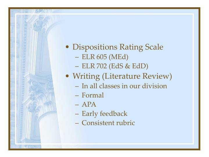 Dispositions Rating Scale