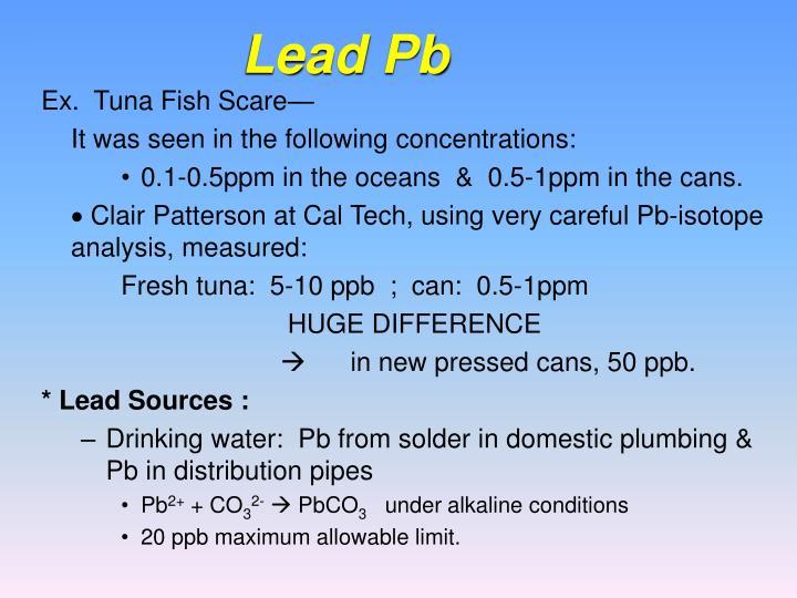 Lead Pb