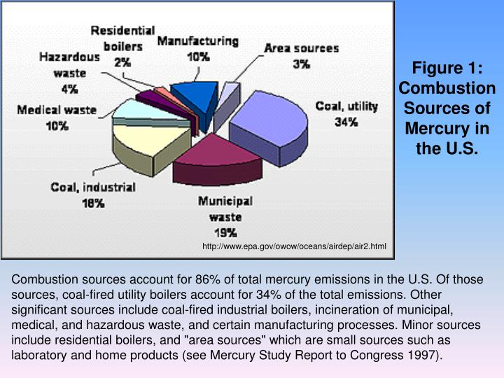 Figure 1: Combustion Sources of Mercury in the U.S.