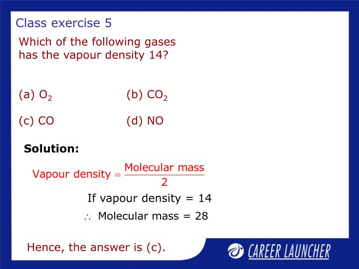 Class exercise 5