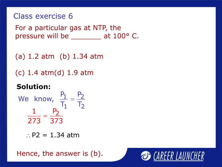 Class exercise 6