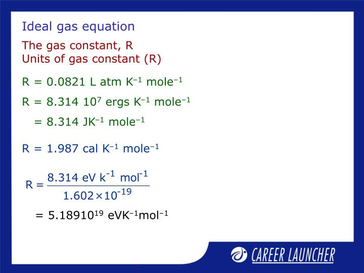 Ideal gas equation