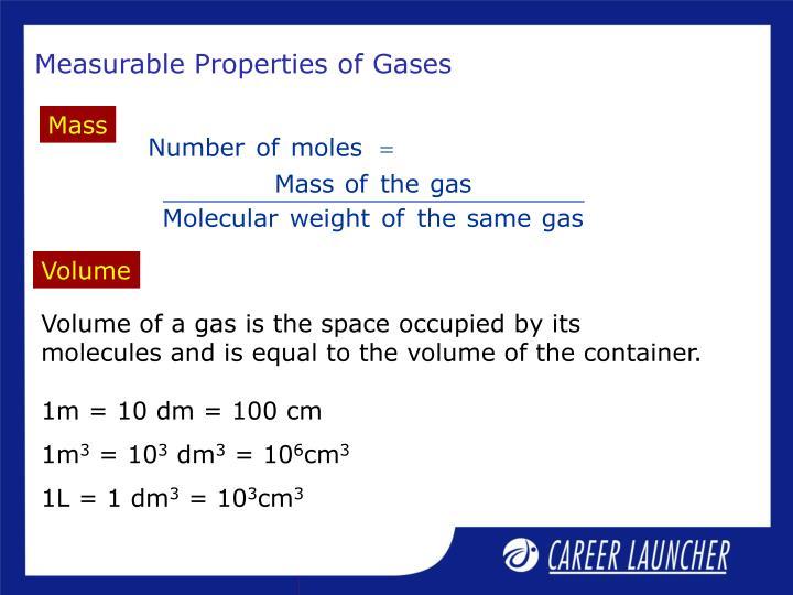 Measurable Properties of Gases