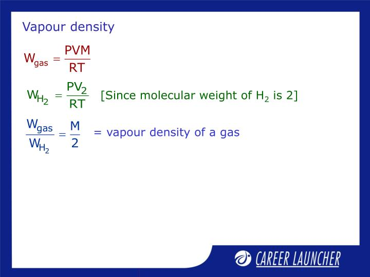 Vapour density
