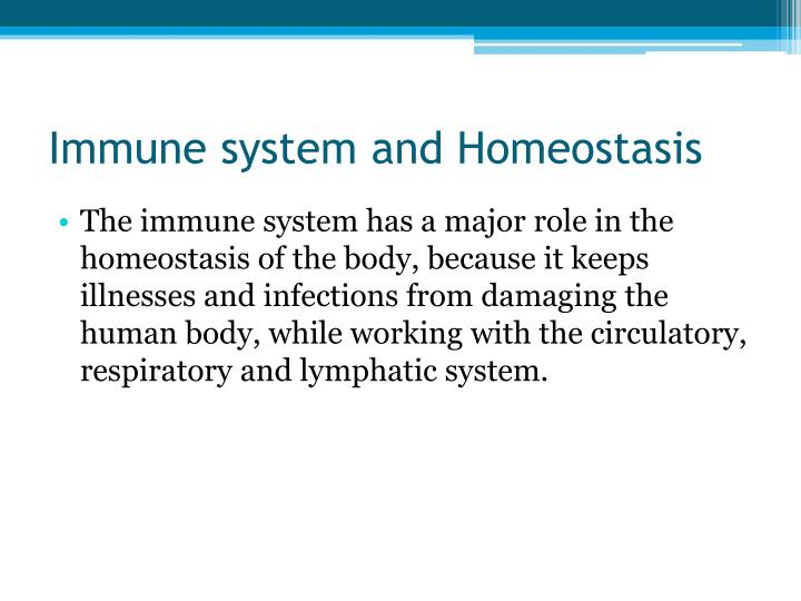 Immune system and Homeostasis
