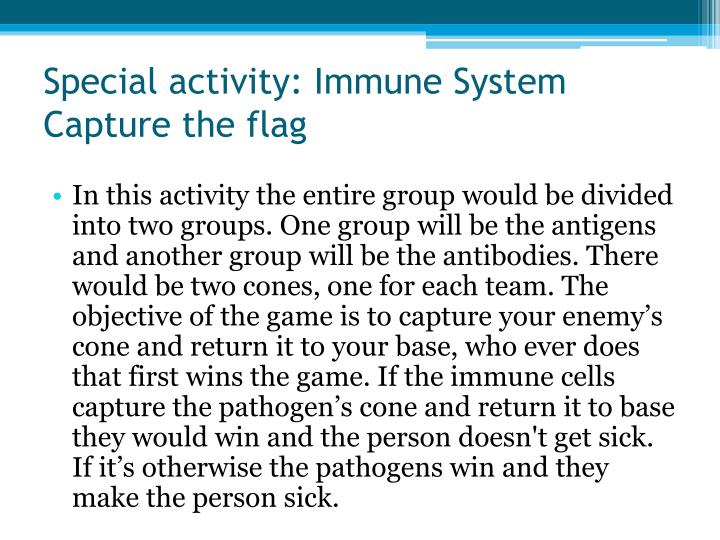 Special activity: Immune System Capture the flag