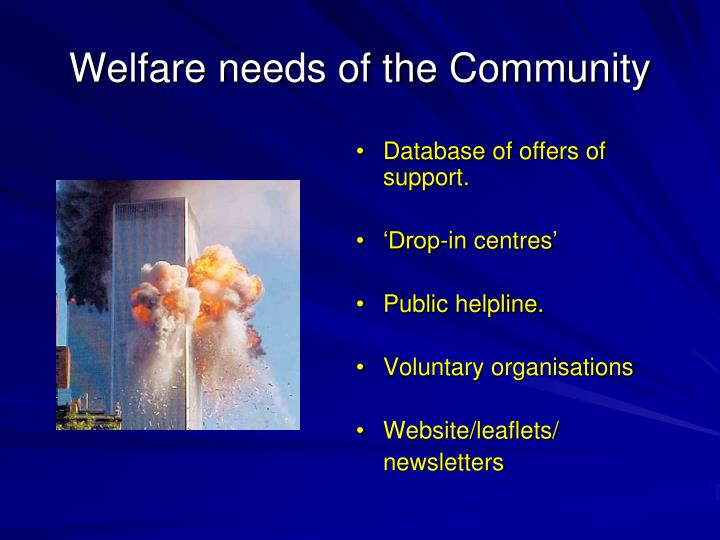 Database of offers of support.