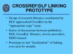 crossref dlf linking prototype