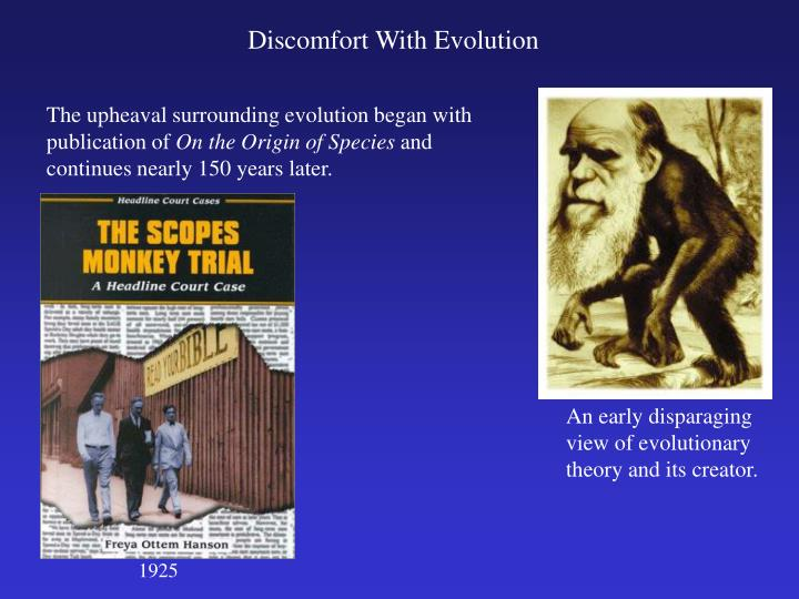 An early disparaging view of evolutionary theory and its creator.