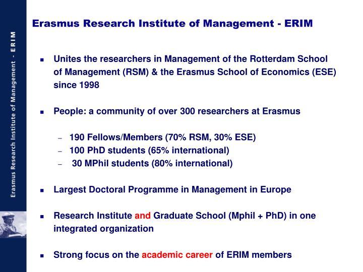 Erasmus research institute of management erim