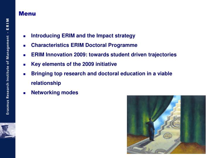 Introducing ERIM and the Impact strategy