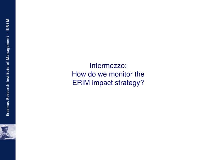 Intermezzo: