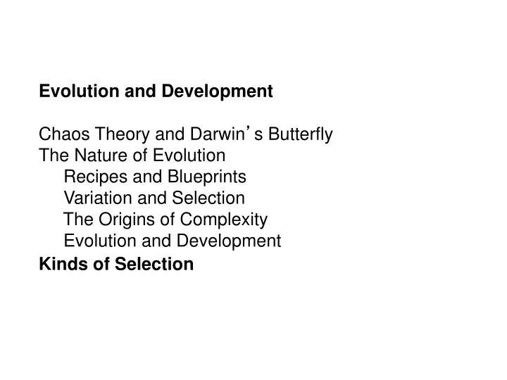 Evolution and Development