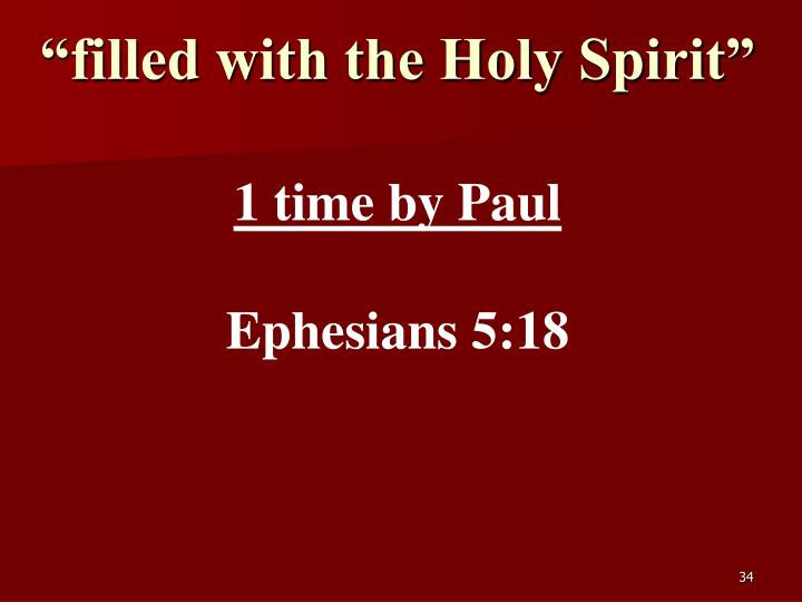 """""""filled with the Holy Spirit"""""""