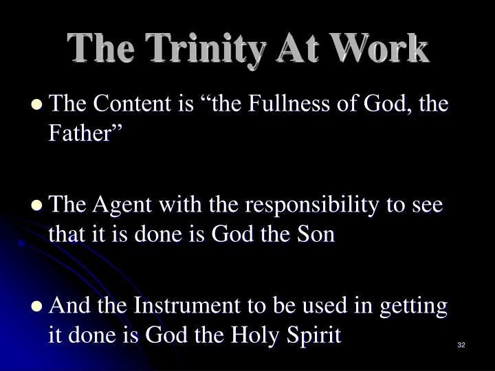 The Trinity At Work
