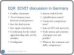 eqr ecvet discussion in germany