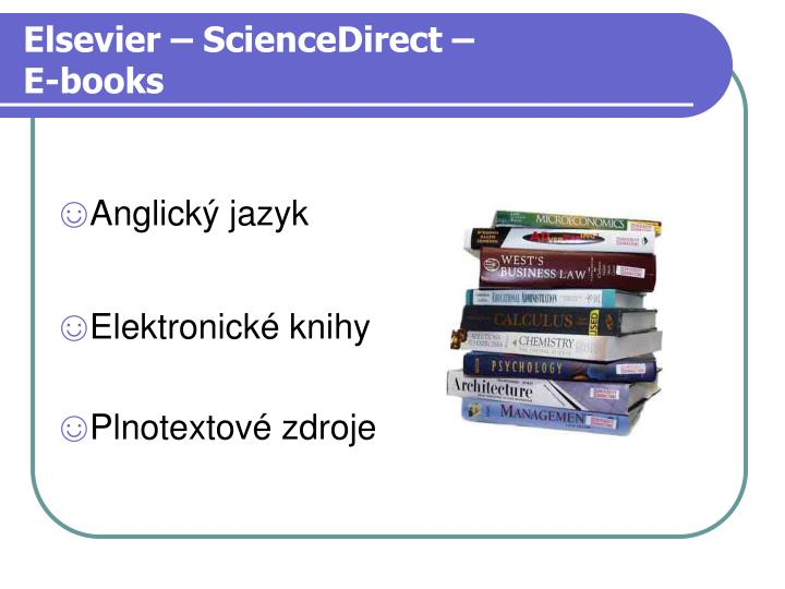 Elsevier – ScienceDirect –