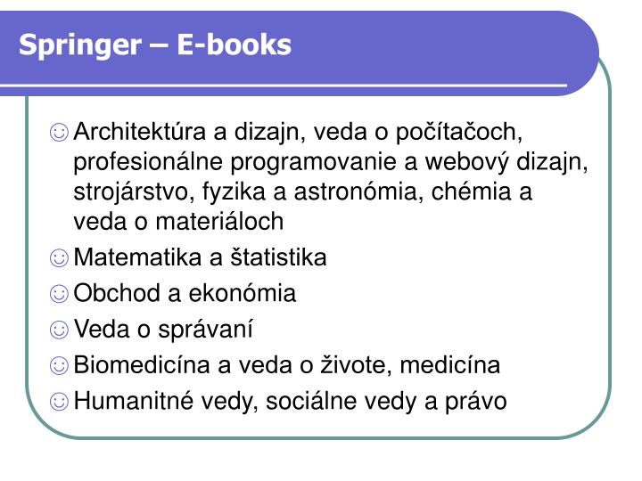 Springer – E-books