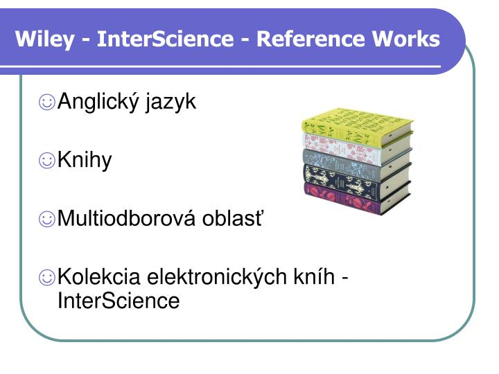 Wiley - InterScience - Reference Works