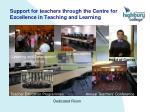 support for teachers through the centre for excellence in teaching and learning