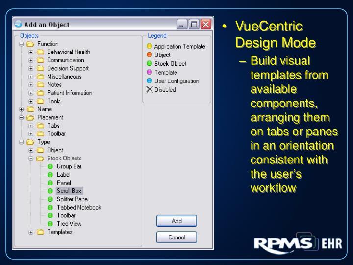VueCentric Design Mode