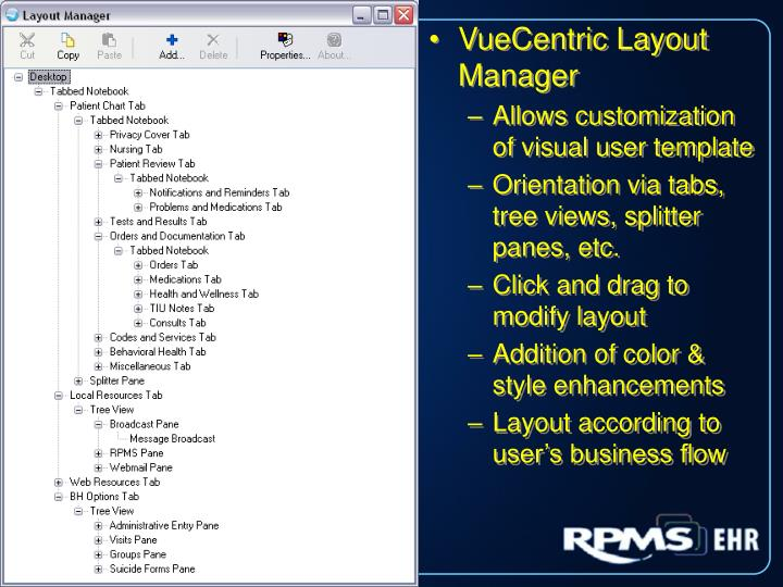 VueCentric Layout Manager