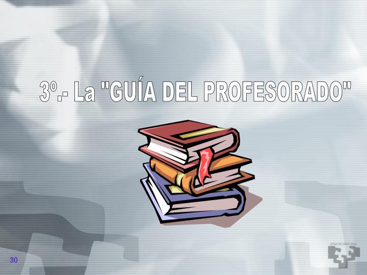 """3º.- La """"GUÍA DEL PROFESORADO"""""""