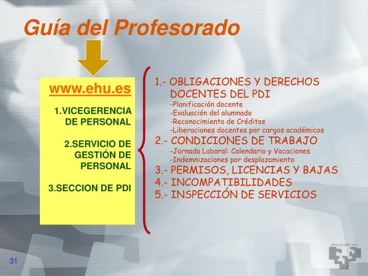 Guía del Profesorado