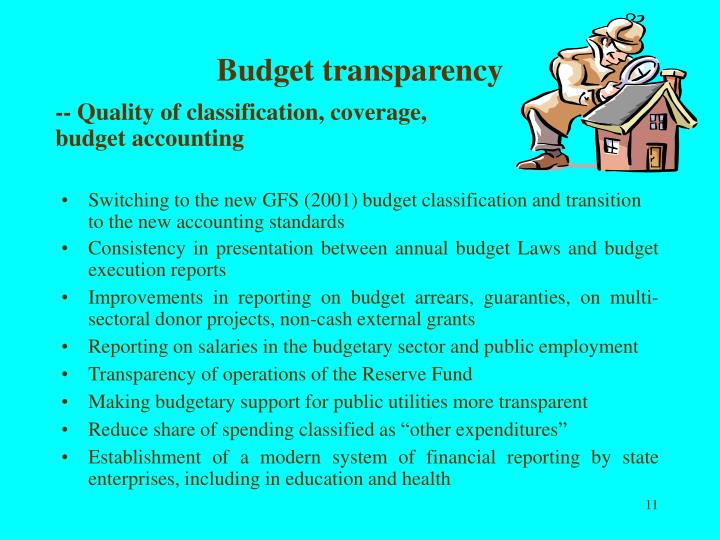 Budget transparency