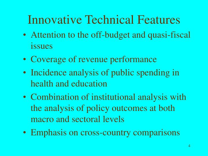 Innovative Technical Features