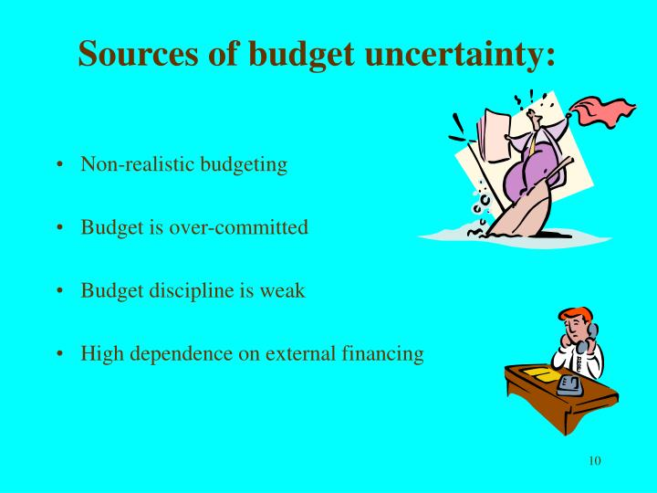 Sources of budget uncertainty: