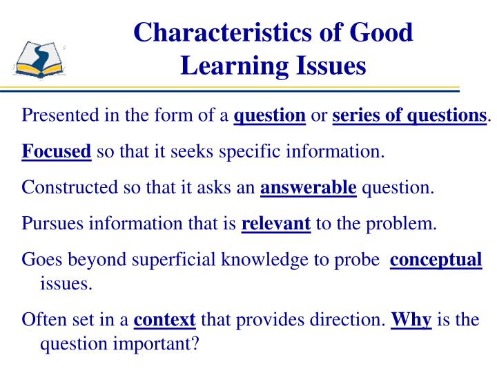 Characteristics of Good