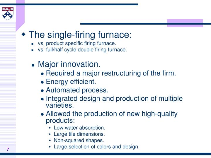 The single-firing furnace: