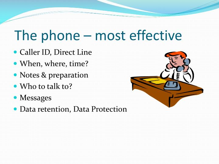The phone – most effective