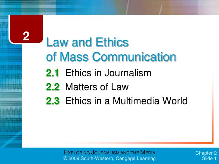 law and ethics of mass communication n.