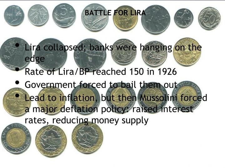 BATTLE FOR LIRA