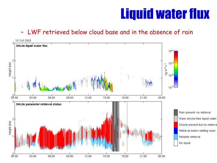 Liquid water flux
