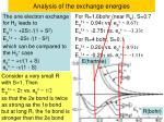 analysis of the exchange energies