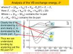 analysis of the vb exchange energy e x