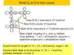 bond o 2 to o to form ozone1