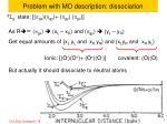 problem with mo description dissociation