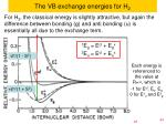 the vb exchange energies for h 2