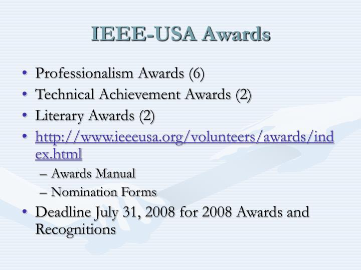 Ieee usa awards