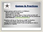 games practices