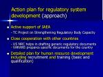 action plan for regulatory system development approach