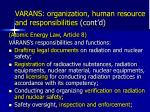 varans organization human resource and responsibilities cont d1