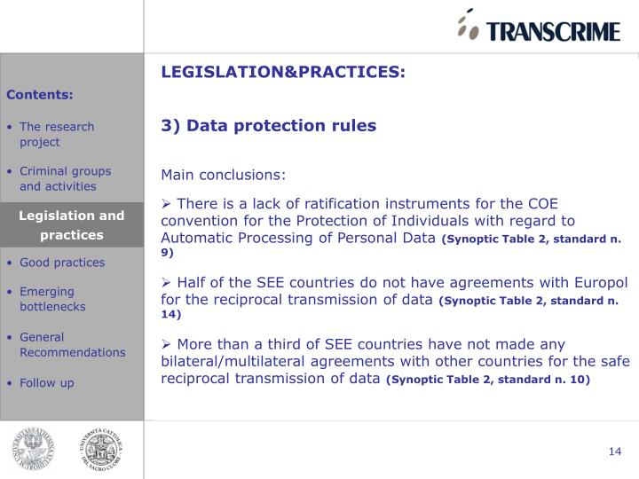 LEGISLATION&PRACTICES: