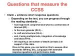 questions that measure the ccss1