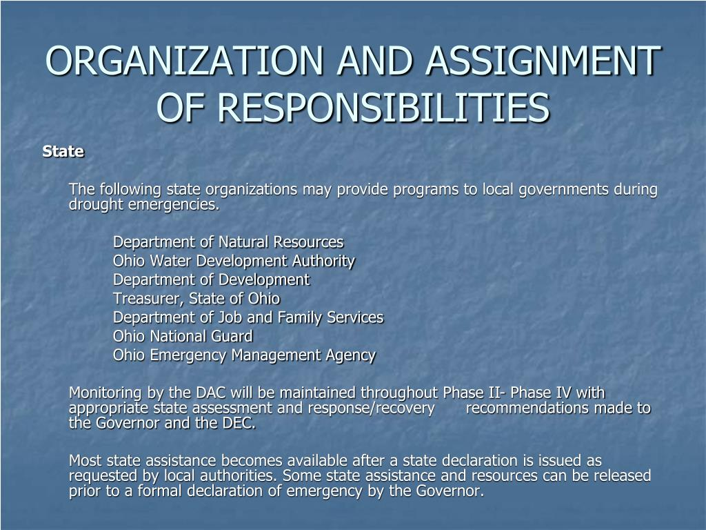 PPT - STATE OF OHIO EMERGENCY OPERATIONS PLAN DROUGHT