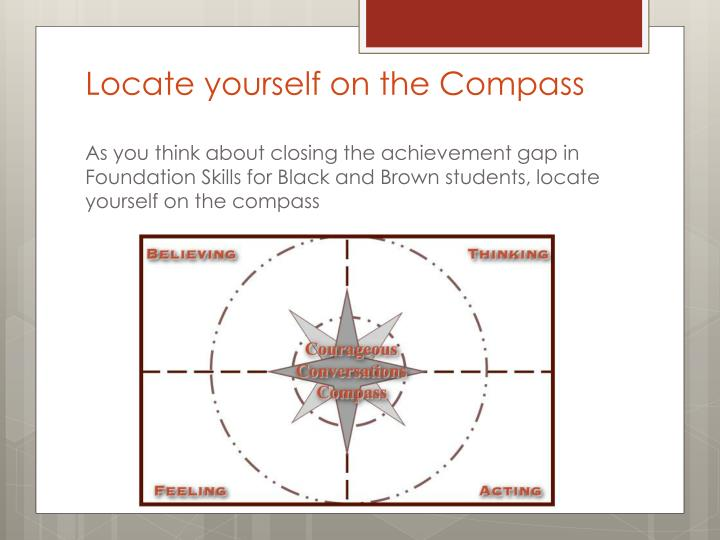 Locate yourself on the Compass